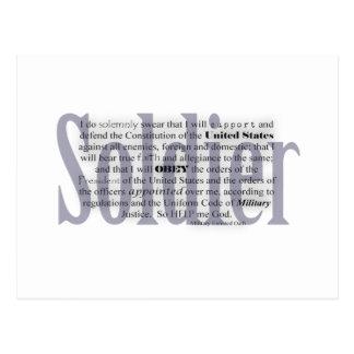 juramento del soldado postal