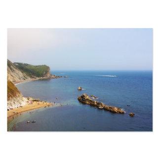 Jurassic coast seascape large business card