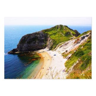 Jurassic Coastline, UK Large Business Card