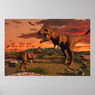 Jurassic dawn poster