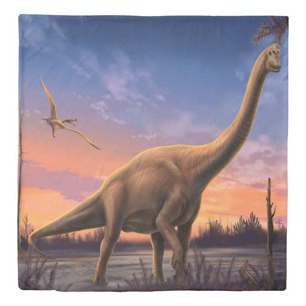 Jurassic Dinosaurs (2 sides) Queen Duvet Cover