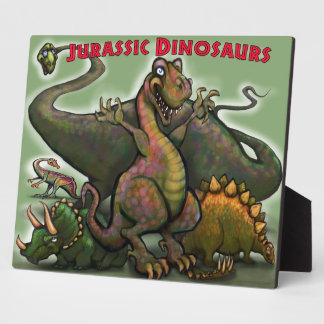 Jurassic Dinosaurs Plaque