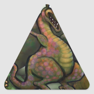 Jurassic Dinosaurs Triangle Sticker