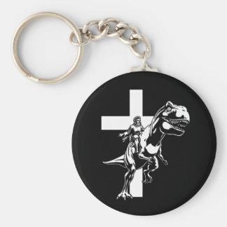 Jurassic Jesus Keychain