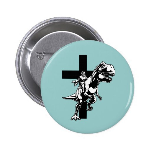 Jurassic Jesus Pinback Button