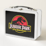 """Jurassic Park 25th Anniversary Logo Metal Lunch Box<br><div class=""""desc"""">This graphic features the classic Jurassic Park 25th Anniversary logo.</div>"""