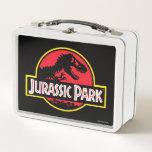 "Jurassic Park Logo Metal Lunch Box<br><div class=""desc"">This graphic features the classic Jurassic Park logo.</div>"