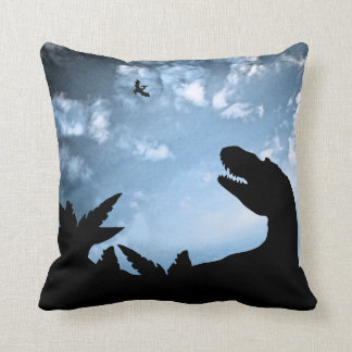 Jurassic Sky Throw Pillow
