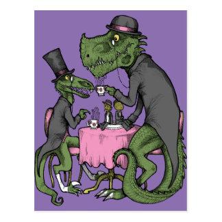 Jurassic Tea Party Postcard