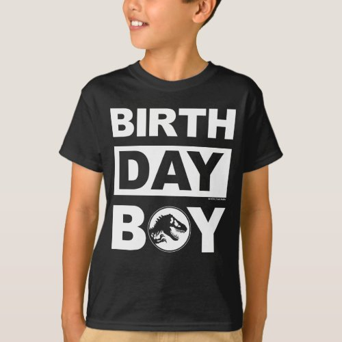 Jurassic World  Birthday Boy _ Name  Age T_Shirt