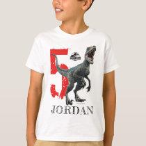 Jurassic World   Birthday - Name & Age T-Shirt