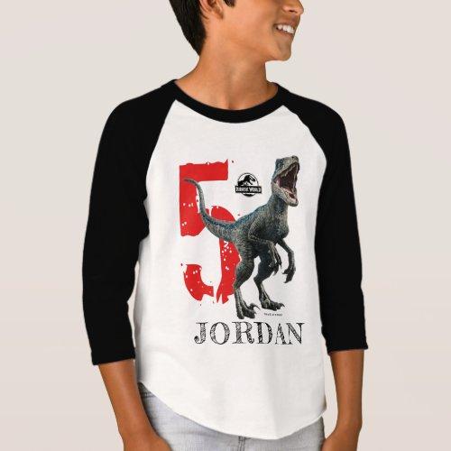 Jurassic World  Birthday _ Name  Age T_Shirt