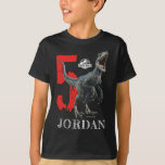 "Jurassic World | Birthday - Name &amp; Age T-Shirt<br><div class=""desc"">Personalize this Jurassic World Birthday shirt with your child&#39;s name and age.</div>"