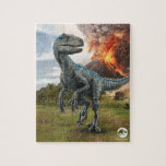 """Jurassic World   Blue - Kids Jigsaw Puzzle<br><div class=""""desc"""">The Last Raptor on Isla Nublar is not only the largest but the deadliest. Blue-So named for the iridescent stripe running down the length of her body-was special from the moment she hatched.</div>"""