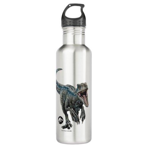 Jurassic World   Blue - Nature's Got Teeth Stainless Steel Water Bottle