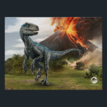 "Jurassic World | Blue Poster<br><div class=""desc"">The Last Raptor on Isla Nublar is not only the largest but the deadliest. Blue-So named for the iridescent stripe running down the length of her body-was special from the moment she hatched.</div>"