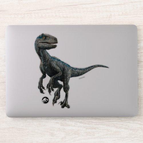 Jurassic World  Blue Sticker