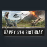 "Jurassic World | Dinosaur Birthday Banner<br><div class=""desc"">Personalize this Jurassic World Birthday Banner with your custom Birthday message.</div>"