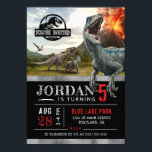 "Jurassic World | Dinosaur Birthday Invitation<br><div class=""desc"">Invite all your family and friends to your child's Jurassic World themed Dinosaur Birthday Party. Personalize these invites by adding all your party details.</div>"