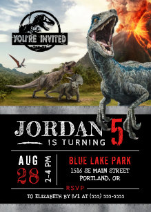 60 off dinosaur birthday invitations shop now to save zazzle jurassic world dinosaur birthday invitation filmwisefo