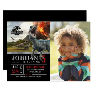 Jurassic World | Dinosaur Birthday with Photo Invitation