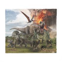 Jurassic World Dinosaur Herd Fleece Blanket