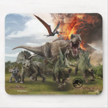 Jurassic World Dinosaur Herd Mouse Pad
