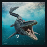 "Jurassic World | Mosasaurus Poster<br><div class=""desc"">An immense seagoing lizard-and not an actual dinosaur-she uses her fearsome array of teeth to catch fish, birds, and other marine reptiles. Mosasaurus&#39;s second set of teeth in an upper palate ensures any prey sliding down her throat will not be able to escape... including the mercenary soldier that T.Rex drives...</div>"