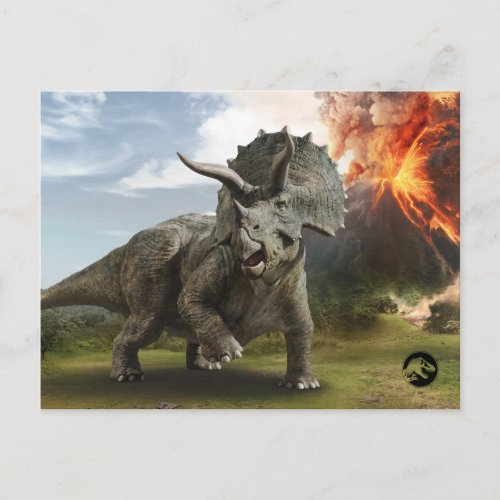 Jurassic World  Triceratops Postcard