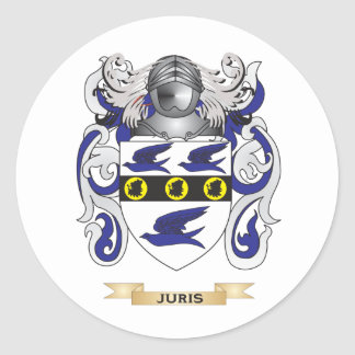 Juris Coat of Arms (Family Crest) Round Stickers