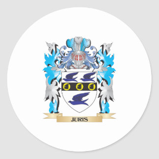 Juris Coat of Arms - Family Crest Stickers