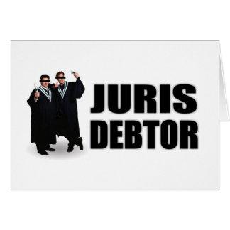 """Juris Debtor"" Notecards Greeting Cards"