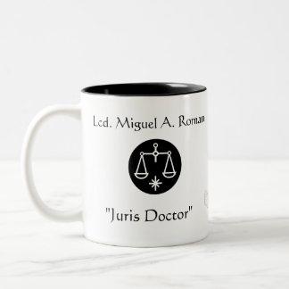 """Juris Doctor""Thanks-Customize Two-Tone Coffee Mug"