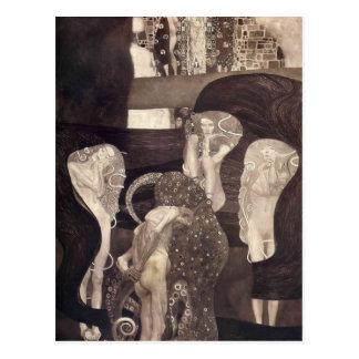 Jurisprudencia de Gustavo Klimt- (estado final) Tarjeta Postal