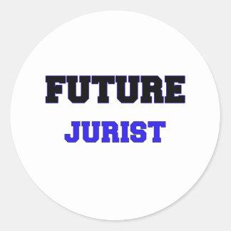 Jurista futuro etiquetas redondas