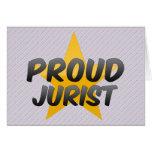 Jurista orgulloso felicitacion