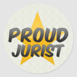 Jurista orgulloso pegatinas redondas