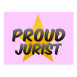 Jurista orgulloso postal
