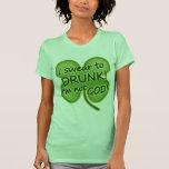 Juro a borracho yo no soy dios camisetas