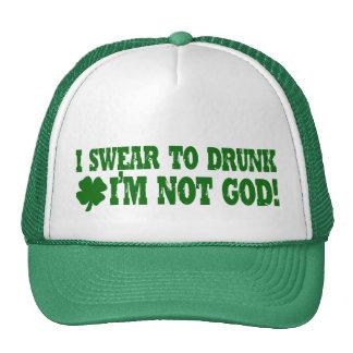 Juro a borracho yo no soy dios gorras