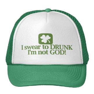 ¡Juro a borracho yo no soy dios! Gorras