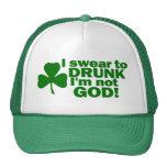 ¡Juro a borracho yo no soy dios! Gorros Bordados