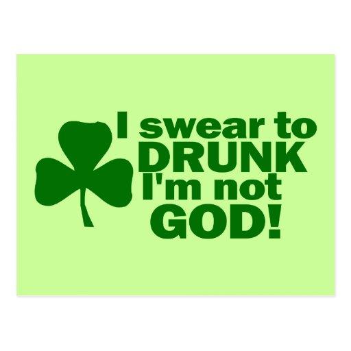 ¡Juro a borracho yo no soy dios! Tarjeta Postal