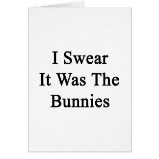 Juro que era los conejitos tarjeta pequeña