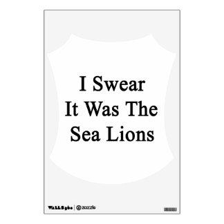 Juro que era los leones marinos vinilo adhesivo