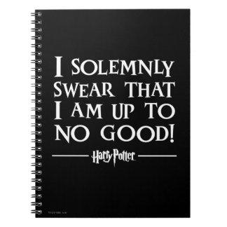 Juro solemnemente libro de apuntes con espiral