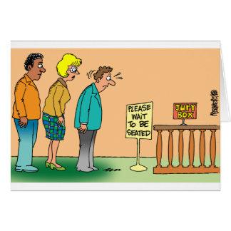 Juror Cartoon Card