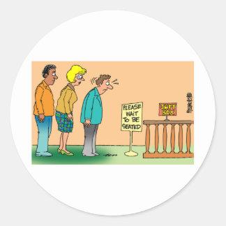 Juror Cartoon Classic Round Sticker