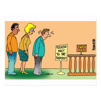 Juror Cartoon Postcard