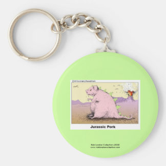 Jurrasic Pork Hilarious Cartoon Keychain